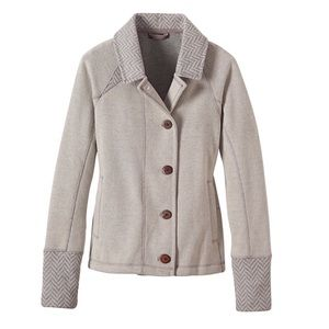 Prana Lucia Sweater Jacket Natural Recycled Wool